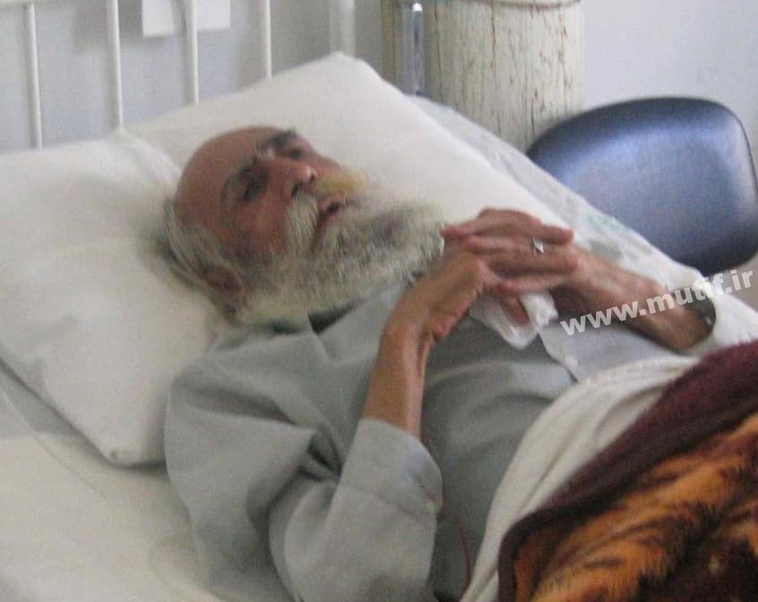 تصویری از کاکو در بستر بیماری
