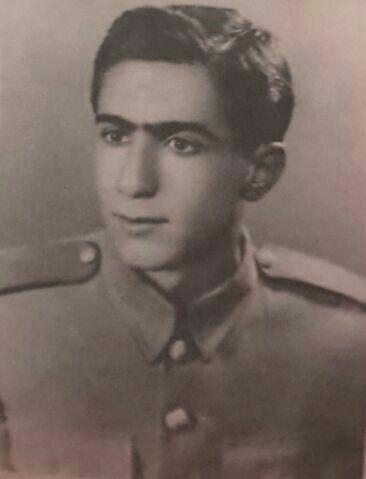 تصویری از دوران سربازی محمد علی شیوایی کاکو