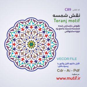 نقش شمسه و ترنج مسجد جامع یزد