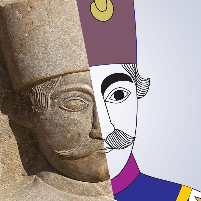 نقش سرباز قاجاری